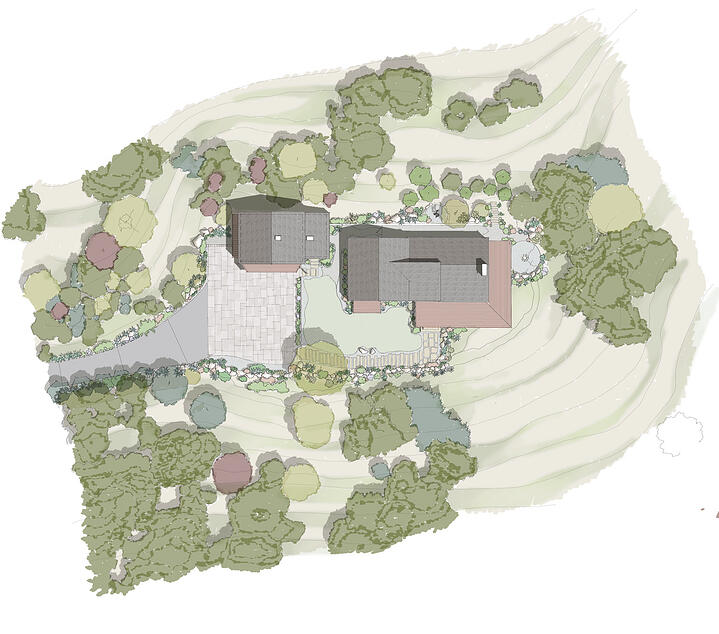 Canyon House-4-Site Plan Rendering