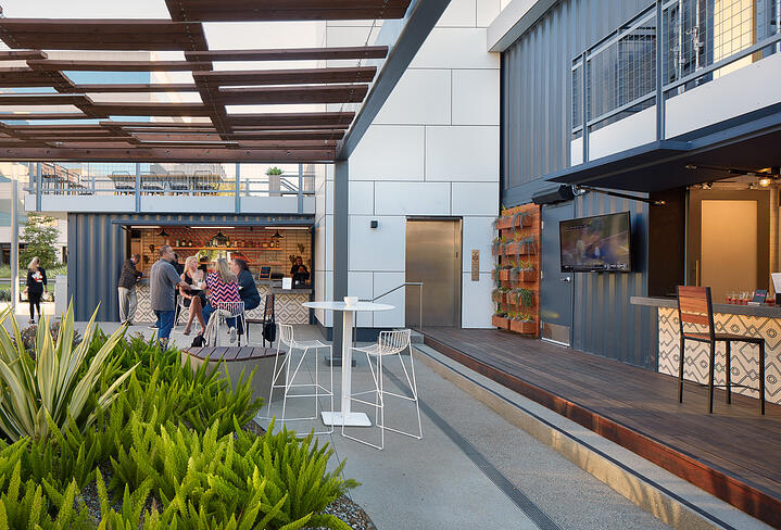 Container Pavilion at Intersect-10-lower patio showing food + drink tenants