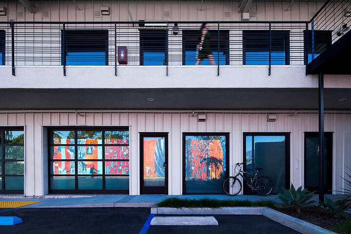 Soco Commercial-3-store front facade with mural reflection