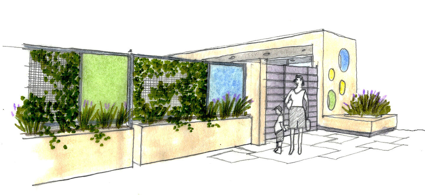 UCLA Child Care Center-@2x-11-Front entrance rendering ROTATE