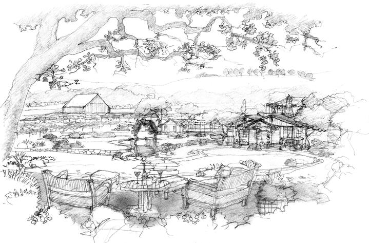 Zaca Creek-1-Black and white rendering of property